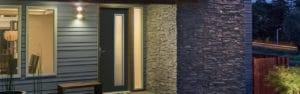 porte d'entrée pvc millet gris