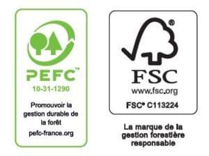 certification PEFC et FSC Millet