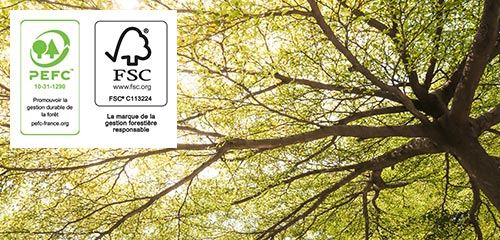 100% de nos bois proviennent de forets durables et protegees