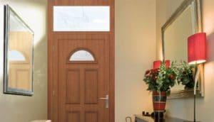 header portes d'entrée pvc imitation bois