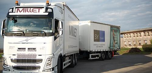 transport camion millet et sybaie
