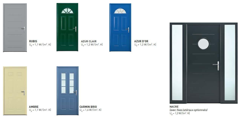 modèles de portes d'entrée métal Millet