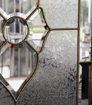 vitrail laiton porte d'entrée pvc