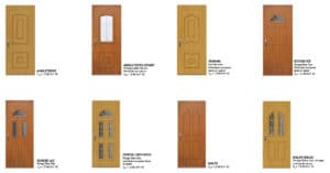 porte d'entrée pvc plaxée bois