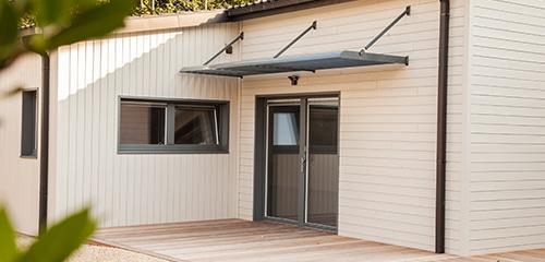 precadre en aluminium pour maison a ossature bois