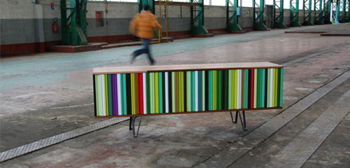 meuble realise avec produits recycles