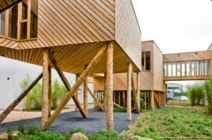 fenetres millet sur construction en ossature bois sur pilotis