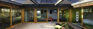 baies vitrees millet sur maison architecte