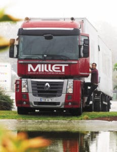 Chauffeur camion Millet