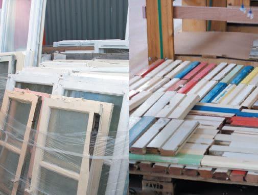 récupération des fenêtres bois millet
