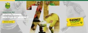bannière match Fc Nantes / Rennes