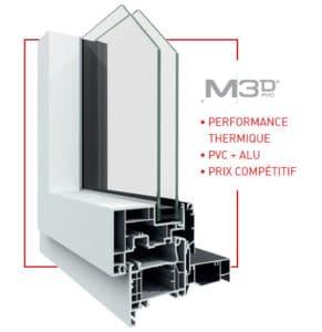 vue de profil d'une M3D PVC