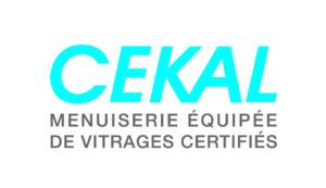 logo Cekal - menuiserie équipée de vitrages certifiés