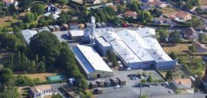 vue aérienne site de production de Beaulieu-sous-Bressuire