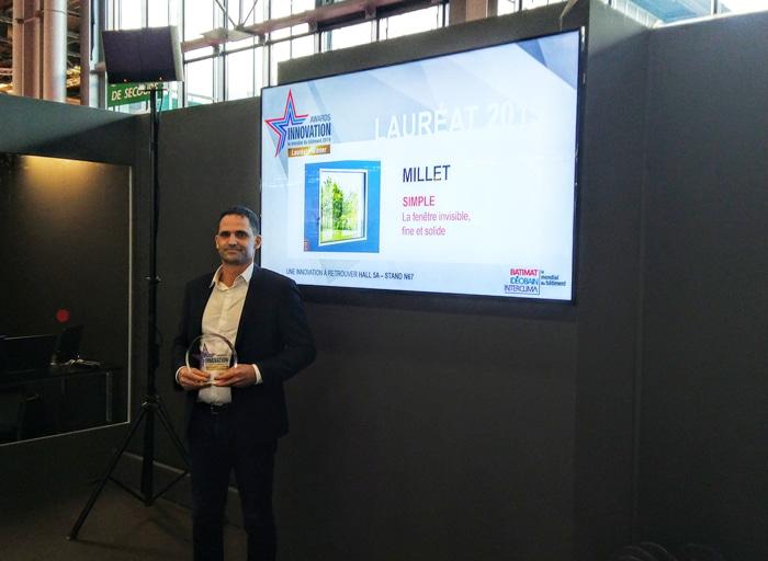 Millet reçoit l'award de l'innovation pour sa fenêtre siMple à Batimat 2019