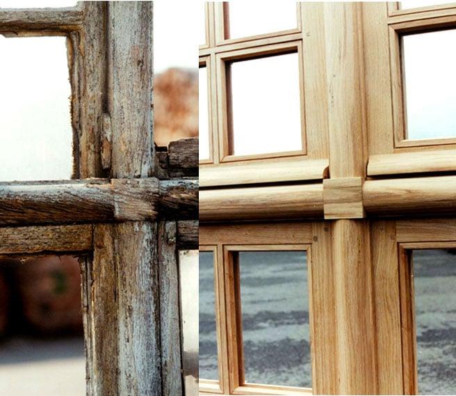 Avant Après montant bois horizontal
