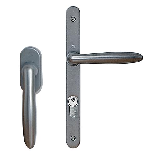 Poignée VERONA Secustik aspect aluminium (en base sur la gamme Cybel plaxée et laquée) Poignée Brest en anthr. 2 faces